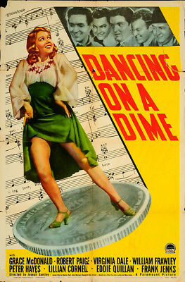 Dancing on a Dime 1940 27x41 Orig Movie Poster FFF-65324 Robert Paige