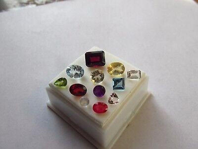 Natural Mixed Faceted Loose Gemstone Parcel Lot Morganite Red Sapphire