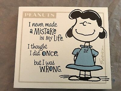 Hallmark Wooden Painted Picture - Lucy - Peanuts