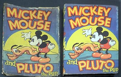 Vintage Disney Book-Mickey Mouse & Pluto Pup Hard Cover w/Dust Jacket-1930s-EMBB