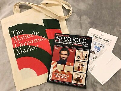 Monocle Magazine December / January 2017 / 2018 Issue109 with Christmas Market T