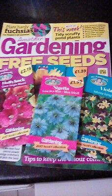 Amateur Gardening Magazine & 5 seed packets.