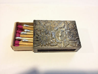 ANTIQUE KIRK AND SON INC  STERLING SILVER  90F MARKED  pre- 1900S  MATCHES BOX