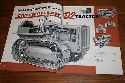 Caterpillar Tractor D2 Diesel Advertising Sales Brochure Giles & Ransome PA