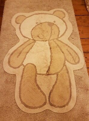 Mothercare 'Please Look After Me' Bear Shaped Nursery Rug