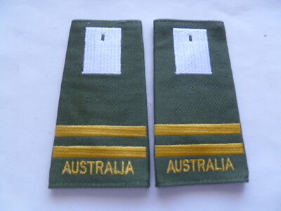 australia army old as new epaulettes pair  duntroon otc