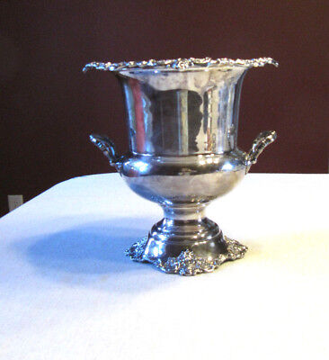 Vintage Wallace Baroque Silverplate Champagne Wine Bucket #243 New Years!