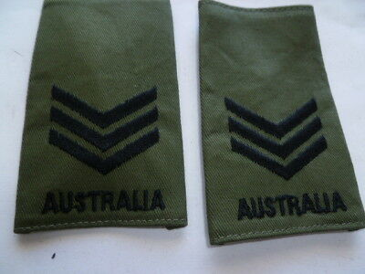 australia army old as new epaulettes pair  vietnam jungle type sgt