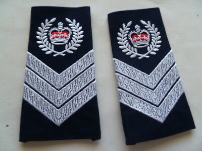 australia POLICE old as new epaulettes pair  crown sgt
