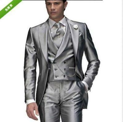 New Mens Wedding Suits Formal Business Suits Bridegroom Tuxedos Best Blazers Y76