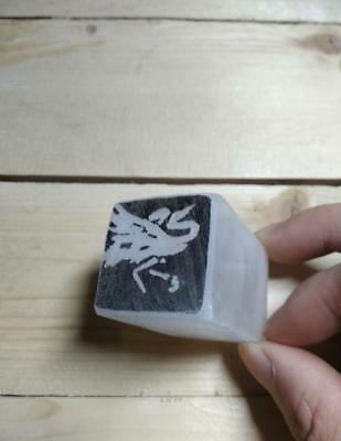 Calligraphy Tool Chinese Seal Hand Engraving Steatite Stone Chop Stamp-Crane