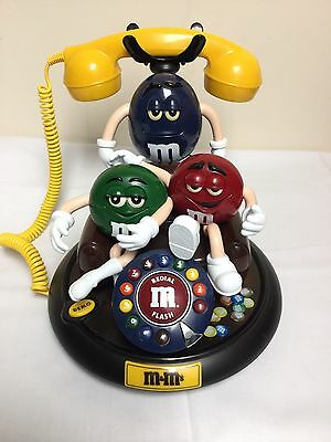 M&M's Candy Characters Animated Talking Moving Telephone Phone Red Green COUCH