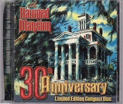 The Haunted Mansion 30th Anniversary Limited Edition Disney Soundtrack Gold CD