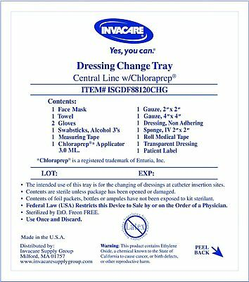 Central Line Dressing Change Kit With Chloraprep 1 Count Free