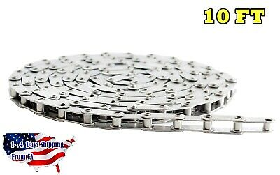 C2052HPSS Stainless Steel Conveyor Roller Chain 10 Feet with Connecting Link