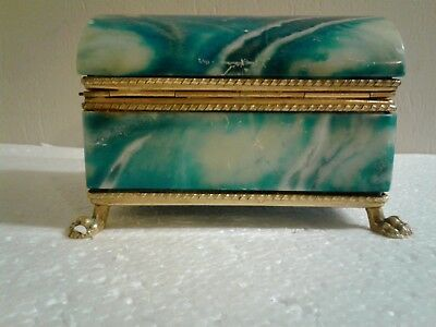Antique French Crystal Glass Jewelry Box Casket .. No Reserve
