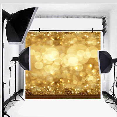 10x10FT Large Gold Glitter Sequin Spot Studio Background Backdrop Photography US