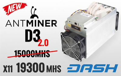 In Hand Bitmain AntMiner D3 19.3 GH/s X11 ASIC Dash Miner, Fast Shipping 19.3ghs