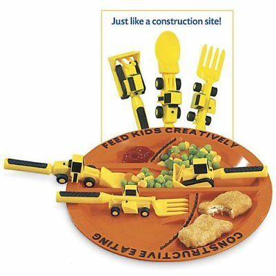 Set of 3 Construction Utensils with Construction Plate