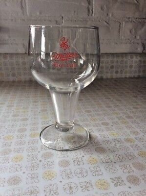 Rare Miller High Life woman in moon logo chalice, goblet, beer glass.