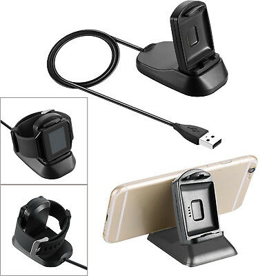 2 in1 USB Charger Dock Charging Stand Holder for Fitbit Blaze & iPhone & Samsung