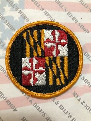 US Army Maryland National Guard ARNG Odd colored dress uniform patch m//e