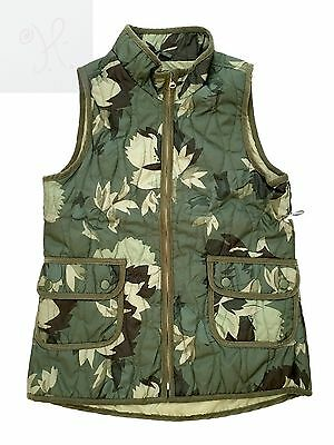 Old Navy Leaves Camouflage Girls Kids Youth Quilted Vest Green Xxl 2 Extra Large