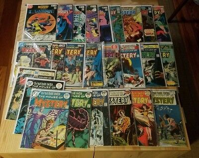House of Mystery DC Comics vintage lot of 26 issues 1970s 1980s Bronze Silver