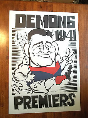 WEG Centenary Poster 1941 Melbourne Demons Autographed + The Official WEG COA