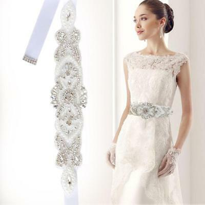 Elegant Bridal Wedding Party Dress Accessories Girdle Waist Belt Access