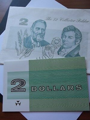 COLLECTOR $2 DOLLAR Banknote - $2 Paper Banknote In Folder