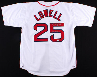 5d98367cd Mike Lowell Signed Boston Red Sox Jersey Inscribed