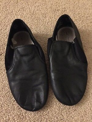 ABT American Ballet Theatre Spotlights Black Jazz Shoes Girls Size 1 Used