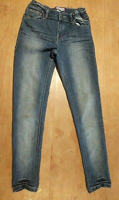 Boys Piping Hot Distressed denim jeans size 12. Adjustable waist. As new