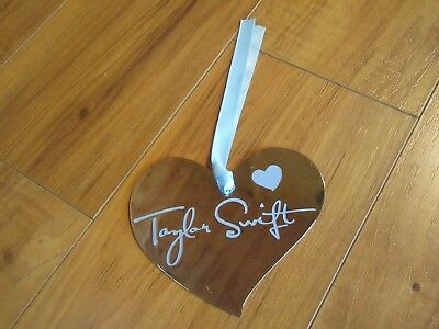 Rare Taylor Swift Speak Now Silver Metal Heart Ornament Paper Weight Promo Demo