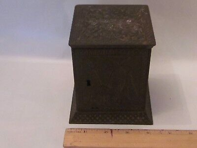 Arabian safe cast iron still bank penny middle east camel palm desert