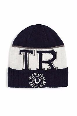 e4deb495a3f True Religion Men s Horseshoe Cotton Knit Watchcap Beanie Hat Color Navy  ~ 70