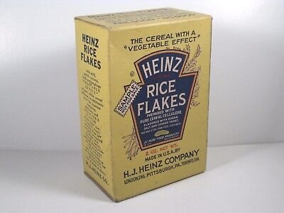 Vintage HEINZ RICE FLAKES Cereal Sample Box 1930's