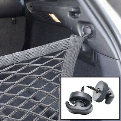 2PCS Rear Trunk Boot Envelope Cargo Net Tie Down Hook Ring Loop Hanging Fixings