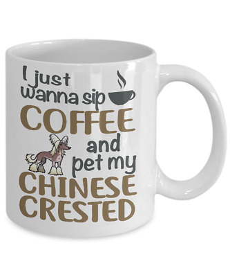 Sip Coffee With My Chinese Crested, Chinese Crested Coffee Mug,cup