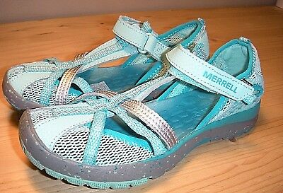 Merrell Girl Hydro Monarch Sandal Size 2 Youth (M) Turquoise Color