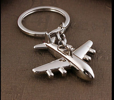 Classic 3D Simulation Model airplane plane Keychain Key Chain Ring Keyring 1PCS