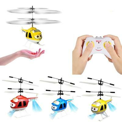 Mini Aircraft Infrared Sensor Remote Control RC Helicopter LED Toy Practical HF
