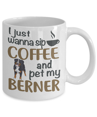 Sip Coffee With Bernese Mountain Dog Coffee Mug,  Bernese Mountain Coffee Mug