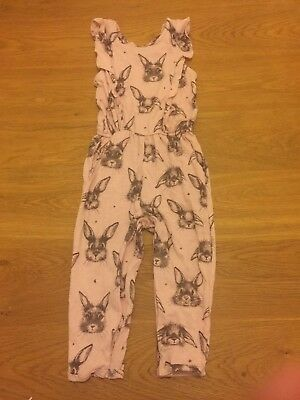 next baby girl jumpsuit with rabbit print size 12-18 months
