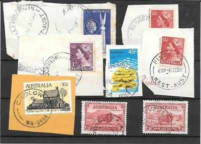 Western Australia  commons postmark study all different lot 1  nice