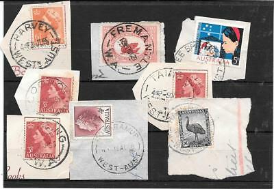 Western Australia  commons postmark study all different lot 3  nice