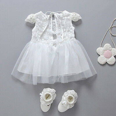Infant Baby Girl Princess Lace Dress Toddler Kids Wedding Fancy Party Tutu Dress