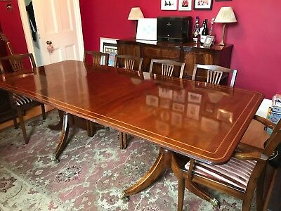Beautiful Antique Regency Style Extending Dining Table and Chairs
