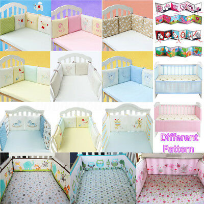 more photos ca911 e15cb BABY CRIB COT Bumper Infant Toddler Bed Protector Pillow Pad Nursery  Bedding Set
